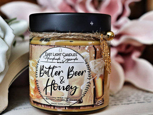 Butter Beer & Honey Harry Potter    Organic Soy Wax Candle