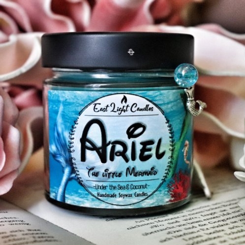 Ariel | Disney inspired Organic Soy Wax Candle | Bookish Candle | Scented Candle