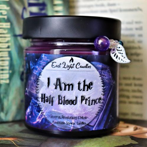 I Am the Half Blood Prince  Duftkerze  Glittercandle   Organic Soy Wax Candle