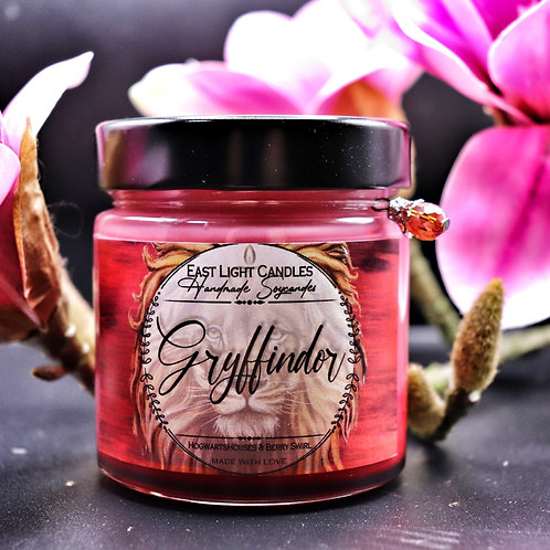 GRYFFINDOR  Harry Potter Hogwarts Houses   Bookish Candle  Organic Soy Wax