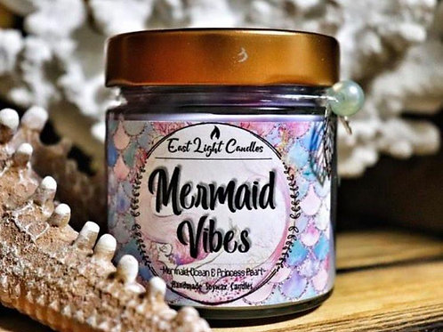 Mermaid Vibes  Organic Soy Wax Candle   Bookish Candle   Scented Candle