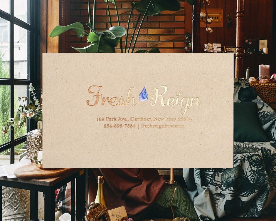 fresh reign Post card