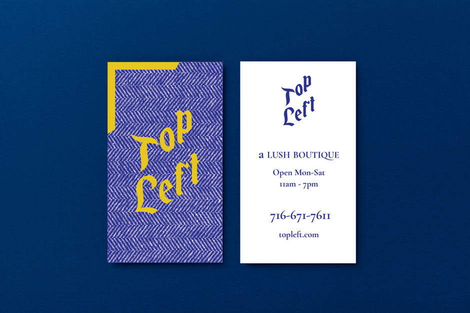 Top Left Buisness cards