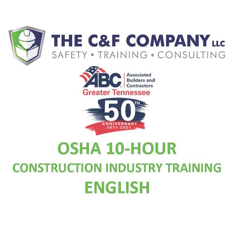 OSHA 10-HOUR CONSTRUCTION - ENGLISH
