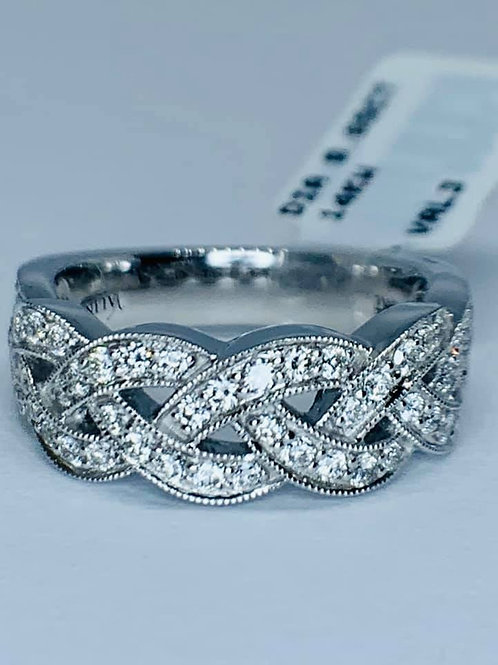 braided diamond band