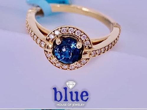 custom montana sapphire and diamond ring