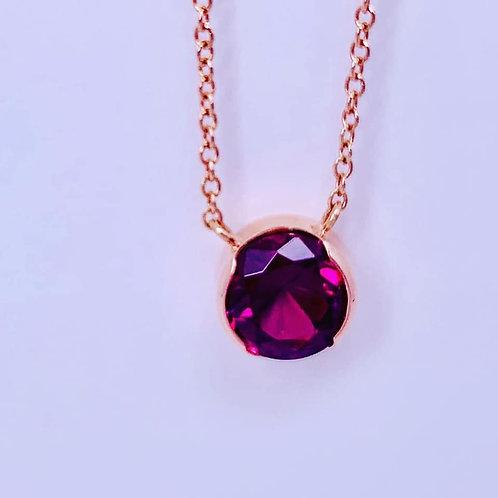 rhodalite garnet necklace
