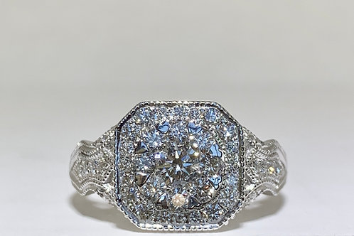 Cluster Diamond Enagaement Ring