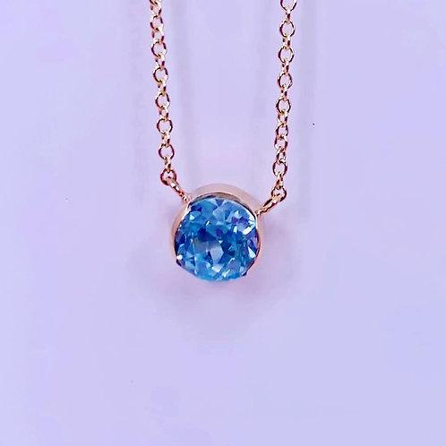 custom blue topaz necklace