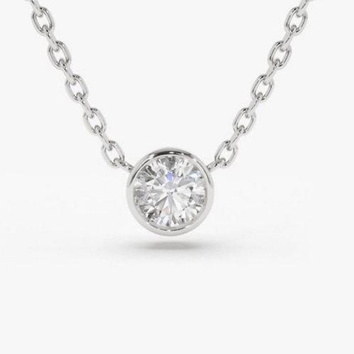 3/4 carat 14k white gold diamond necklace