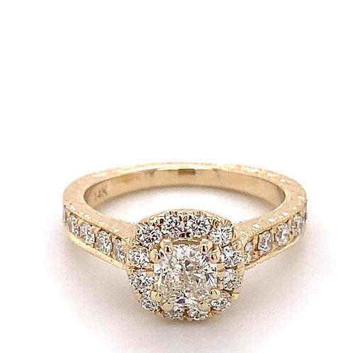 cushion cut diamond engagement ring