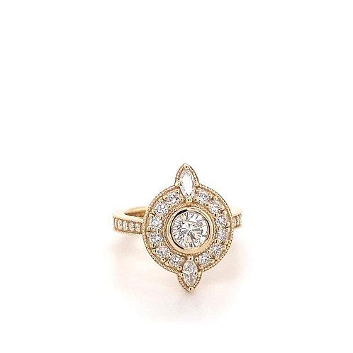 custom designed 14k gold diamond ring