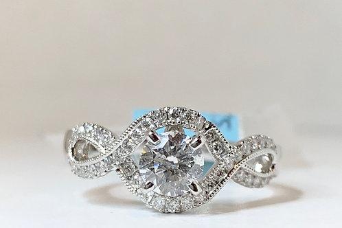 Twist Shank Diamond Engagement Ring