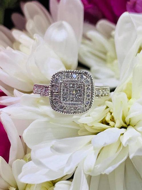 cushion shaped diamond ring
