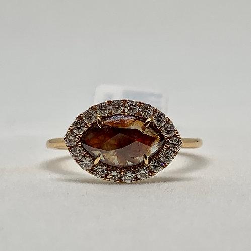 Slice of Brown Diamond Ring