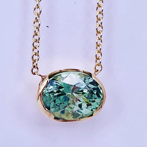 rare mint garnet necklace