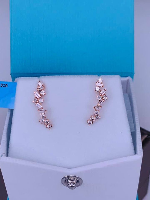 diamond climber earrings