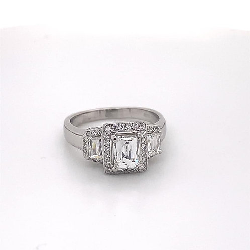 tycoon cut diamond platinum ring