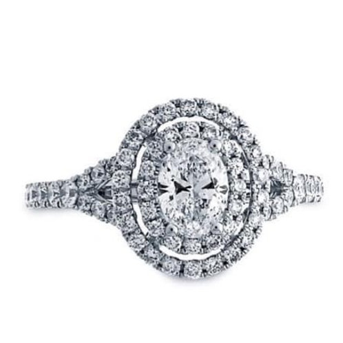 oval engagement halo ring