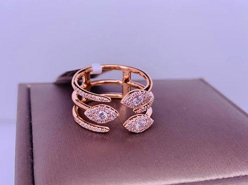 14k rose gold diamond wrap ring
