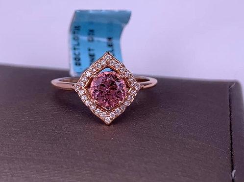 lotus garnet and diamond ring