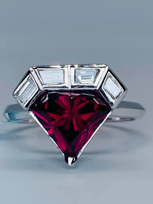 custom designed zimbabwe garnet ring