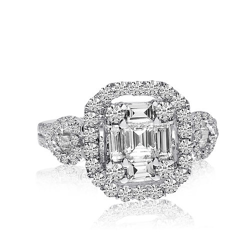 1.52 carat total weight diamond ring