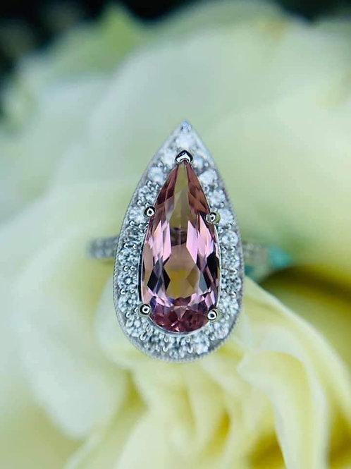 custom designed by Tina Yancey Morganite ring