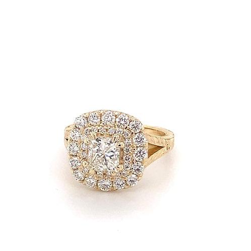 14k gold diamond big bling ring