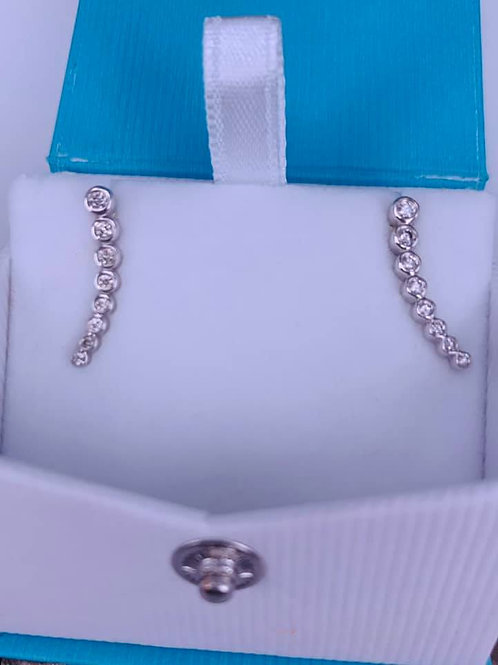 .25 carat  diamond earring climber