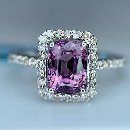 burma spinel and diamond ring