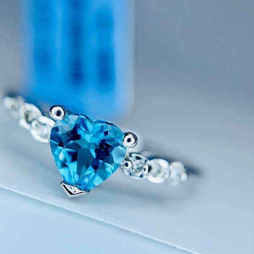 heart shaped blue topaz