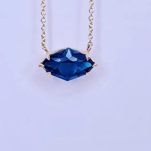 custom london blue topaz necklace