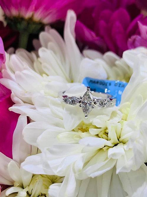 petite marquis engagement ring