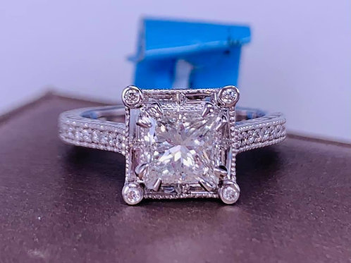 custom designed by Tina Yancey engagement ring