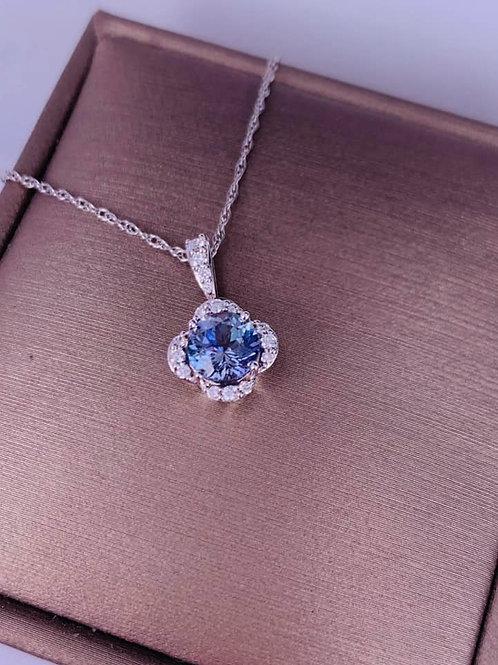 rare peacock tanzanite necklace
