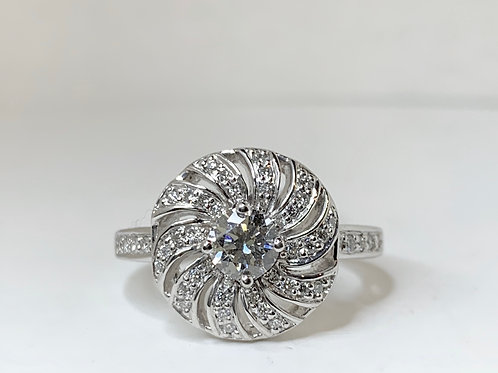 Spiral Diamond Fashion Ring