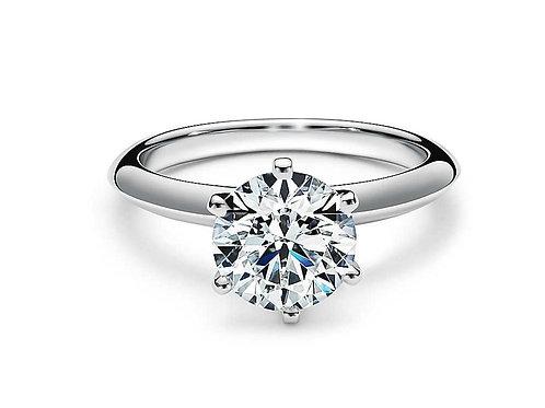 1.98 carat moissanite 14k white gold solitaire ring