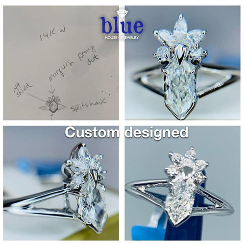 custom designed by Tina Yancey engagement ring