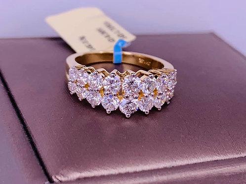 double the diamonds 14k ring