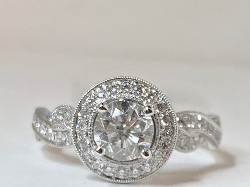 Twist Shank Diamond Engagement Ring