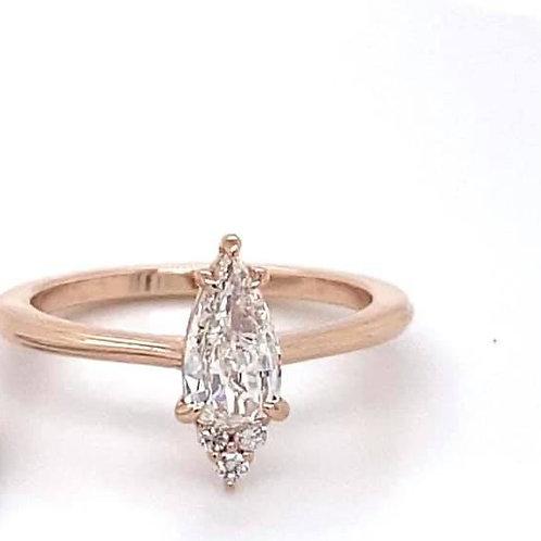 14k rose gold engagement ring