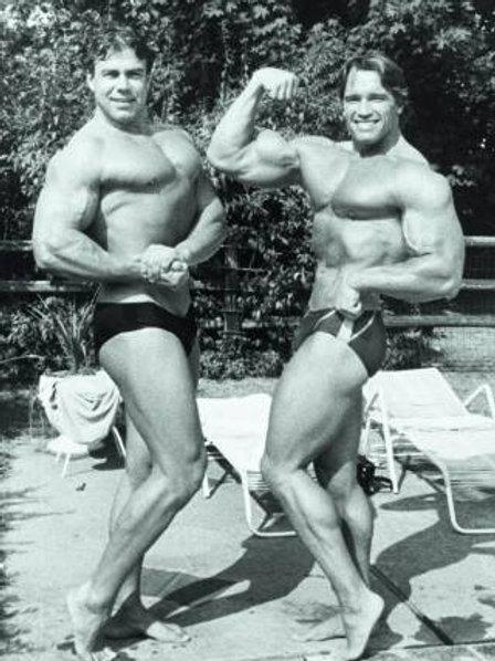 Sven-Ole Thorsen and Arnold Schwarzenegger