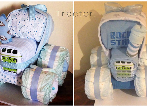 Tractor Nappy Surprise