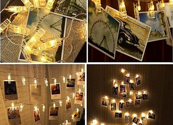 LED Photo Clip String
