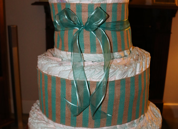 3 Tier Naked Cake Centre Piece Nappy Surprise