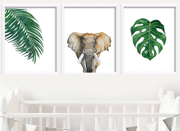 Jungle Birth Announcement Nursery Wall Art