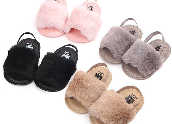 First Walker Fluffy Crib Sandal
