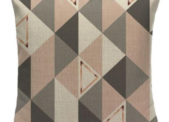 Pink Geometric Nordic Cushion