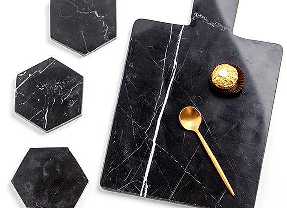 Hexagon Marble Coasters